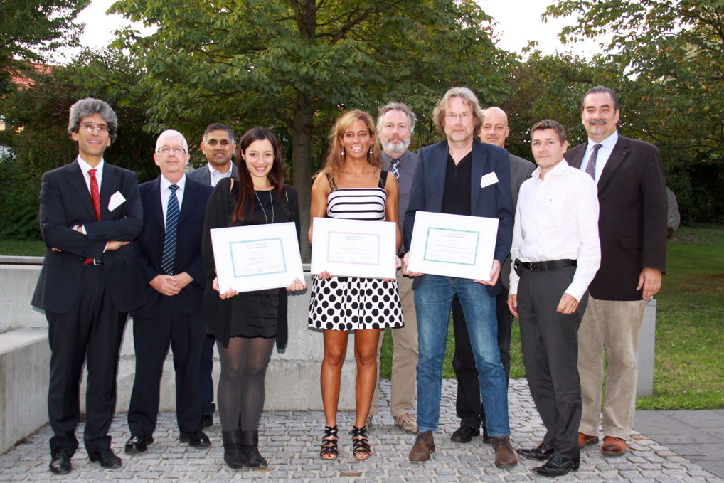 [Photo]Winners of the Awards 2015 together with the jury: (left to right): Patrizio Campisi, Mike Fairhurst, Ajay Kumar, Daria La Rocca, Marta Gomez-Barrero, Günther Schumacher, Raymond Veldhuis, Christoph Busch, Jean-Christophe Fondeur and Alexander Nouak