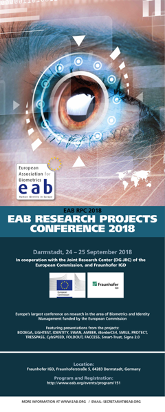 Banner for EAB Research Projects Conference 2018