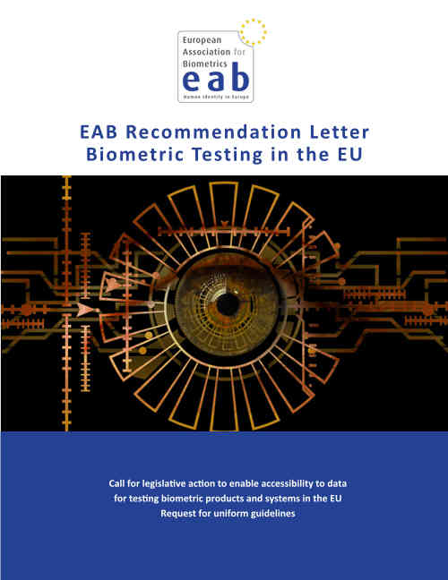 A letter from the European Association for Biometrics to the relevant authorities of the European Union