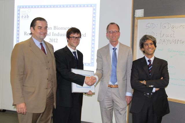 [Photo] Winner of the EAB Research Award: Christian Rathgeb