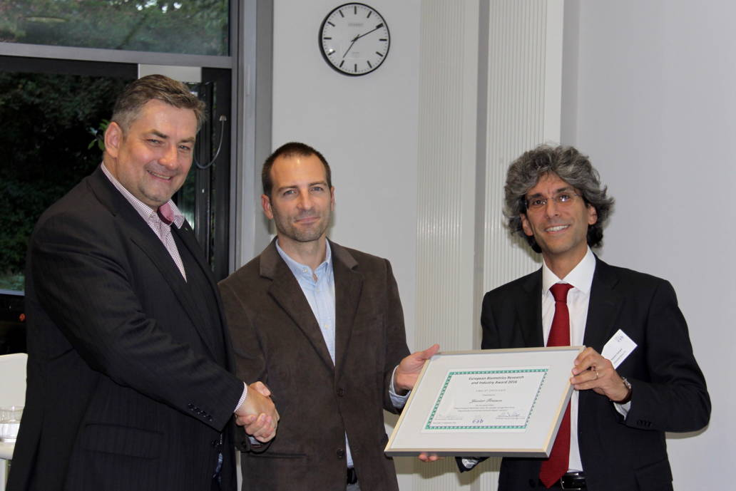 [Photo] Finalist Javier Franco-Pedroso together with Alexander Nouak and Patrizio Campisi